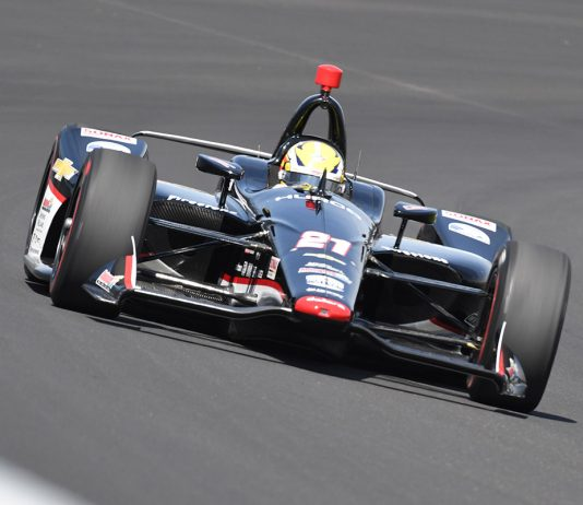 Spencer Pigot was fastest in Indianapolis 500 qualifying Saturday at Indianapolis Motor Speedway. (Al Steinberg Photo)