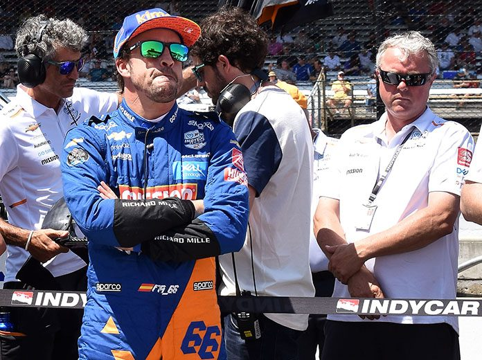 Fernando Alonso came up one spot short of locking himself into the Indianapolis 500 Saturday. (Ginny Heithaus Photo)
