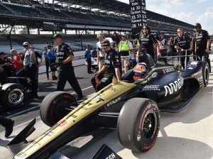 James Hinchcliffe crashed his primary car in Indianapolis 500 qualifying Saturday and then struggled to find speed in his backup car. (Ginny Heithaus Photo)
