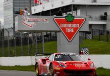 Spain's Miguel Molina and Finland's Toni Vilander drove Canadian Ferrari team R. Ferri Motorsport's 488 GT3 to victory in Saturday's Blancpain GT World Challenge event at Canadian Tire Motorsport Park.