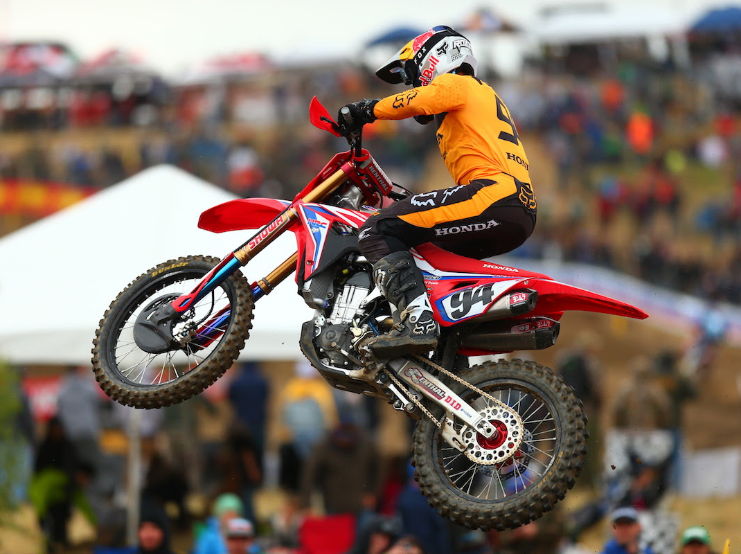 Ken Roczen raced to his first win since his championship-winning 2016 Lucas Oil Pro Motocorss campaign. (Jeff Kardas Photo)