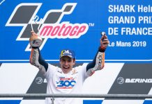 Marc Marquez earned Honda's 300th premier class victory Sunday in France. (Honda Photo)
