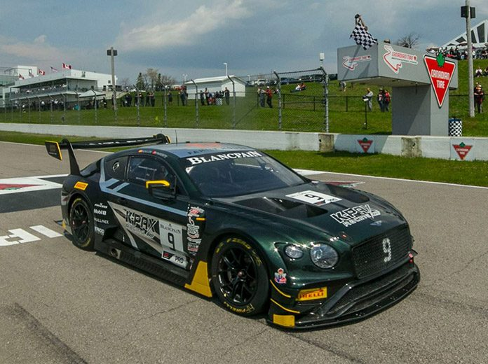 Alvaro Parente and Andy Soucek won Sunday's Blancpain GT World Challenge America feature at Canadian Tire Motorsport Park.