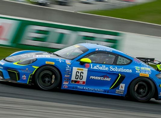 Spencer Pumpelly on his way to victory Sunday at Canadian Tire Motorsports Park.