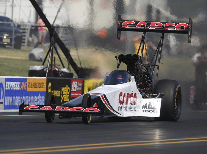 Steve Torrence Sunday at Virginia Motorsports Park. (NHRA Photo)
