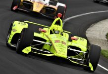 Simon Pagenaud was fastest during Indianapolis 500 practice on Monday. (Al Steinberg Photo)