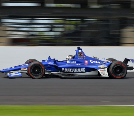 Ed Carpenter at speed at Indianapolis Motor Speedway. (Dave Heithaus Photo)