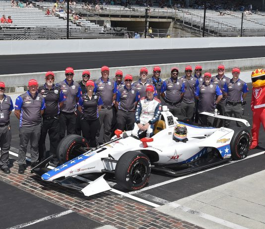 Ben Hanley and the DragonSpeed Indy car team. (IndyCar photo)