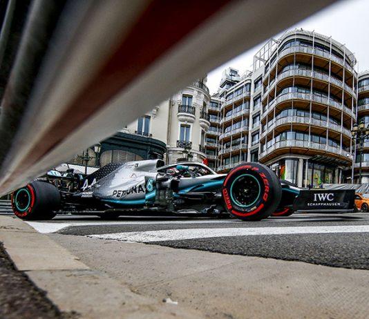 Lewis Hamilton was fastest in practice for the Monaco Grand Prix on Thursday. (Mercedes Photo)