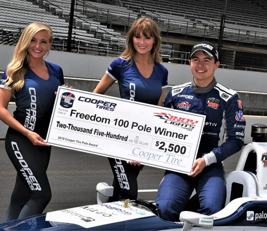 Robert Megennis topped qualifying for the Freedom 100 Thursday at Indianapolis Motor Speedway. (Al Steinberg Photo)