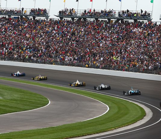 Action from the 97th Indianapolis 500. (IMS Archives Photo)