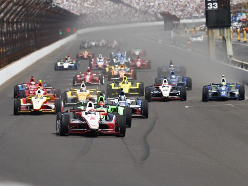 The start of the 2012 Indianapolis 500. (IMS Archives Photo)