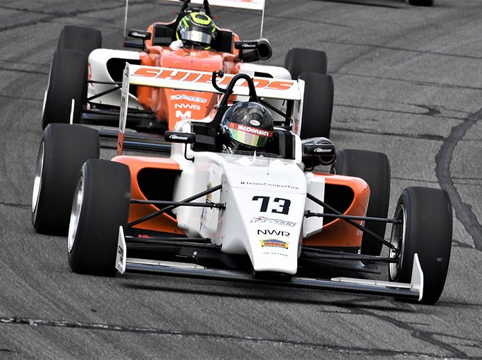 Cameron Shields won Friday's USF2000 event at Lucas Oil Raceway. (Al Steinberg Photo)