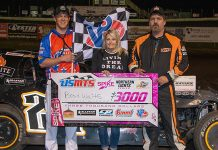 Brad Waits in victory lane. (USMTS photo)