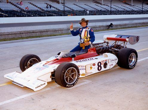Jan Opperman at Indianapolis Motor Speedway in 1976. (IMS Archives Photo)