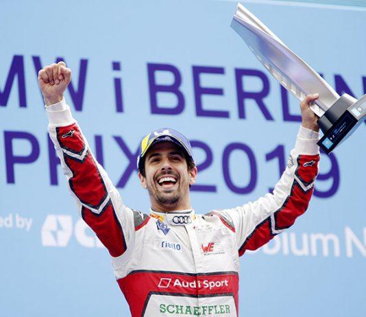 Lucas di Grassi won Saturday's Formula E event in Berlin, Germany. (Formula E Photo)