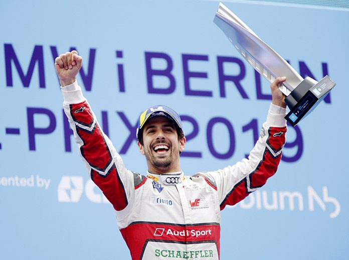 Lucas di Grassi won Saturday's Formula E event in Berlin, Germany. (Formula E Photo)
