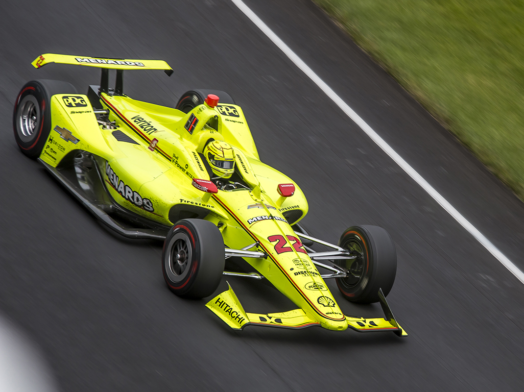 Simon Pagenaud would not be denied his first Indianapolis 500 victory on Sunday. (Brad Plant Photo)