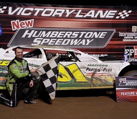 Chad Homan won the RUSH Late Model feature Sunday at New Humberstone Speedway.