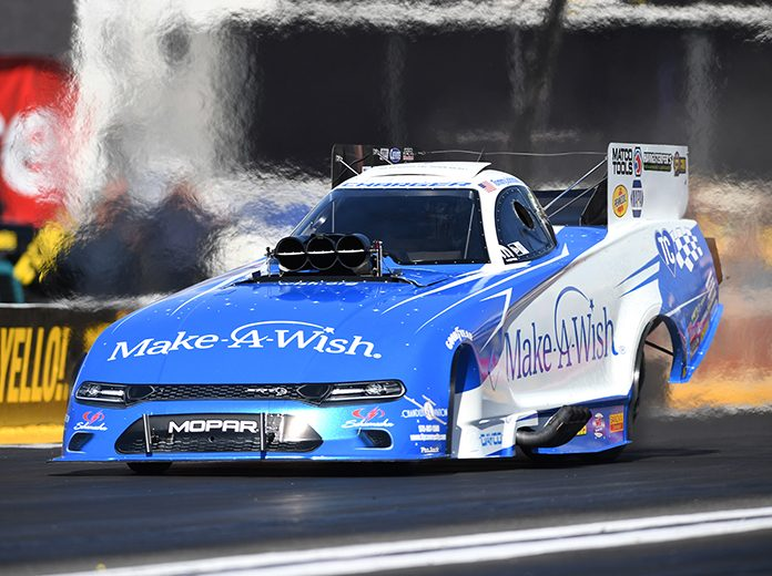 Tommy Johnson Jr. is hoping to turn his consistency into a victory during the Menards NHRA Heartland Nationals. (NHRA Photo)