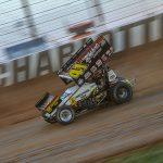 David Gravel at The Dirt Track at Charlotte. (Adam Fenwick Photo)