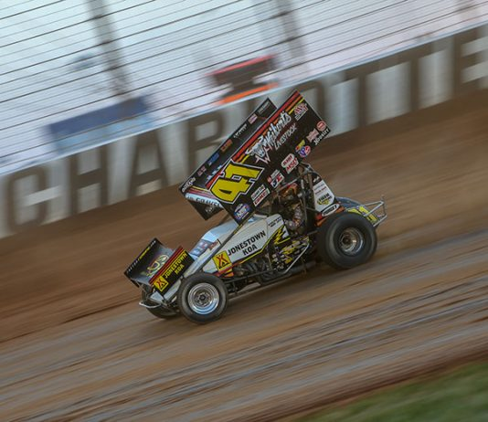 David Gravel at The Dirt Track at Charlotte. (Adam Fenwick Photo)