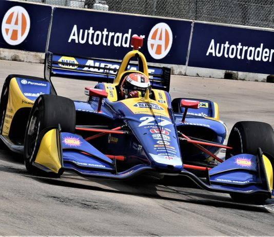 Alexander Rossi was fastest in NTT IndyCar Series practice on Friday at Belle Isle Park. (Al Steinberg Photo)
