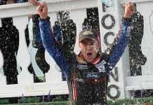 Ty Majeski won his second-straight ARCA Menards Series event on Friday at Pocono Raceway. (Dave Moulthrop Photo)