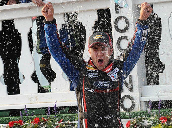 Ty Majeski won his second-straight ARCA Menards Series event on Friday at Pocono Raceway. (Dave Moulthrop Photo)