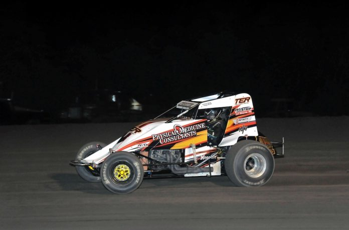 Thomas Meseraull at Gas City I-69 Speedway. (Randy Crist photo)