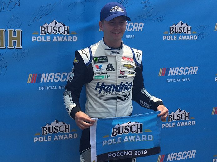 William Byron won the pole for the Pocono 400 Saturday afternoon. (Dave Moulthrop Photo)