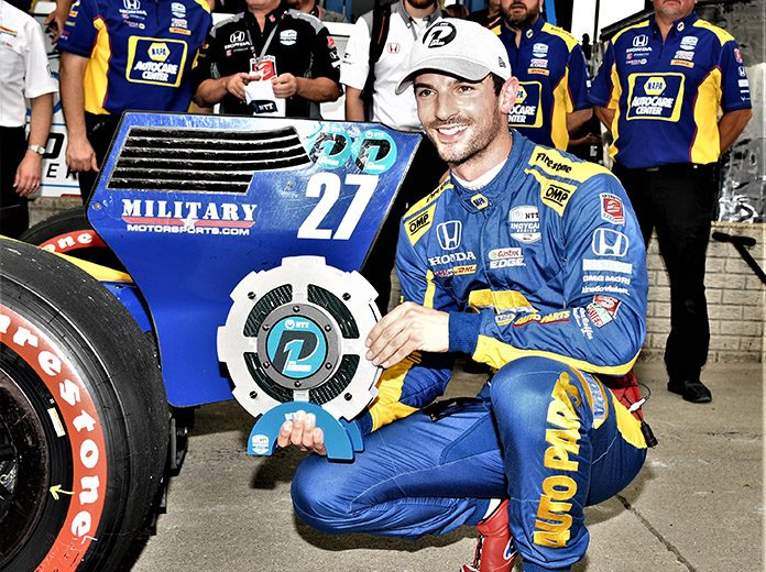 Alexander Rossi earned the pole for Saturday's Chevrolet Detroit Belle Isle Grand Prix Race No. 1. (Al Steinberg Photo)