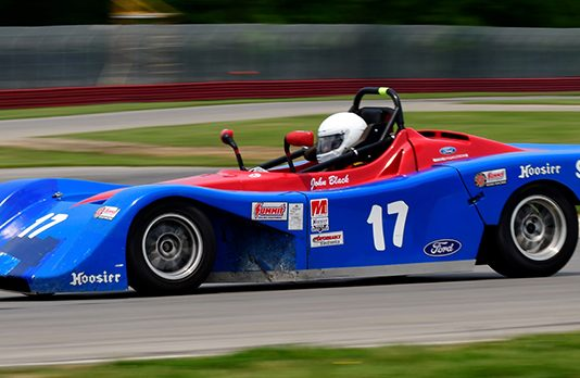 John Black won a thriller in Spec Racer Ford 3 Saturday at the Mid-Ohio Sports Car Course. (Michael Berchak Photo)