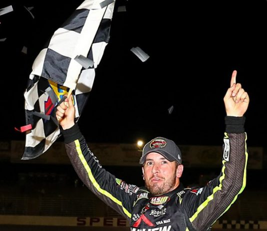 Doug Coby continued his strong start to the NASCAR Whelen Modified Tour season with a victory Saturday at Seekonk Speedway. (NASCAR Photo)