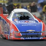 Robert Hight sped to the No. 1 qualifying spot at Route 66 Raceway. (NHRA Photo)
