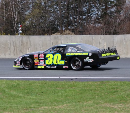Rich Dubeau earned his first ACT Late Model Tour win by taking the $5,000-to-win Claude Leclerc 150 at Autodrome Chaudiere on Saturday, June 1. (Alan Ward photo)