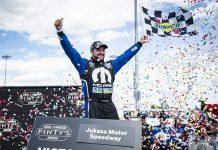 Andrew Ranger earned his first NASCAR Pinty's Series victory of the season Sunday at Jukasa Motor Speedway. (NASCAR Photo)