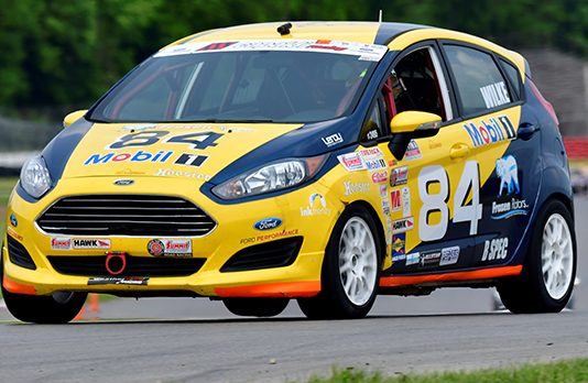 Fritz Wilke held off the field for a B-Spec win Sunday at the Mid-Ohio Sports Car Course. (Michael Berchak Photo)