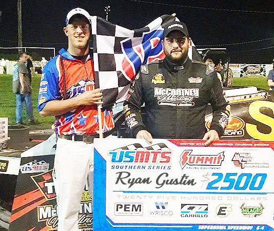 Ryan Gustin in victory lane.