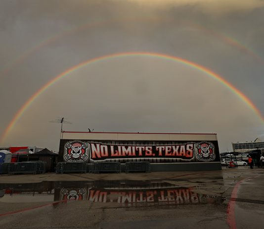 Rain brought an early end to Thursday's NTT IndyCar Series practice at Texas Motor Speedway. (IndyCar Photo)