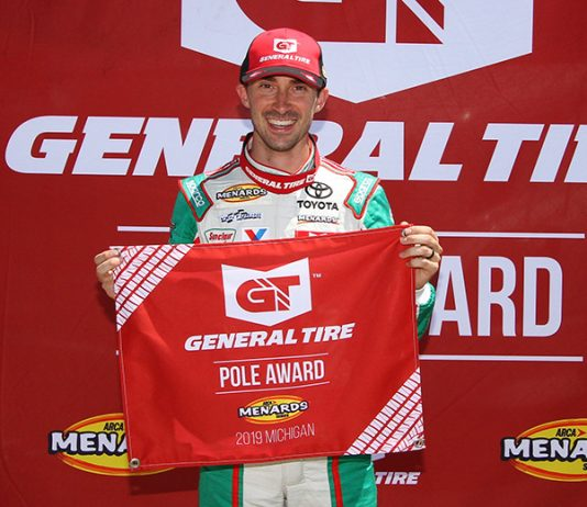 Michael Self will start from the pole during Friday's ARCA Menards Series event at Michigan Int'l Speedway. (ARCA Photo)