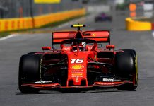 Charles Leclerc was fastest on Friday in Canadian Grand Prix practice. (Ferrari Photo)