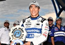 Takuma Sato won the pole for the DXC Technology 600. (Al Steinberg Photo)