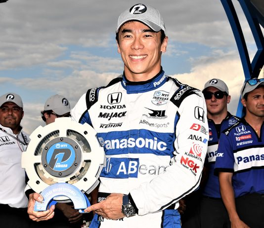 Takuma Sato won the pole for the DXC Technology 600. (Al Steinberg Photo)