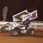 Freddy Rahmer en route to victory at Williams Grove Speedway. (Dan Demarco photo)