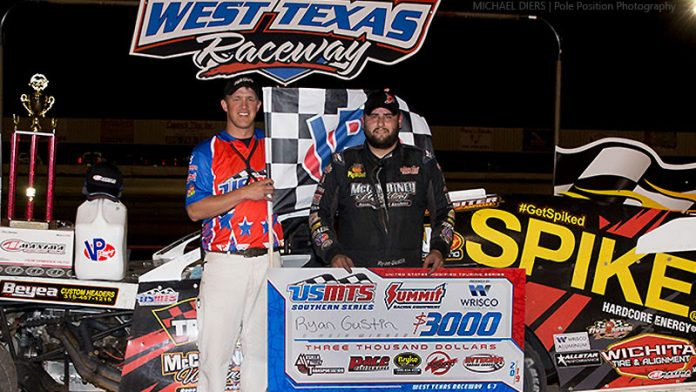 Ryan Gustin in victory lane. (USMTS photo)