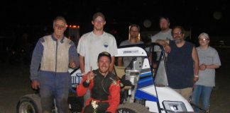 Mike Stroik in victory lane.