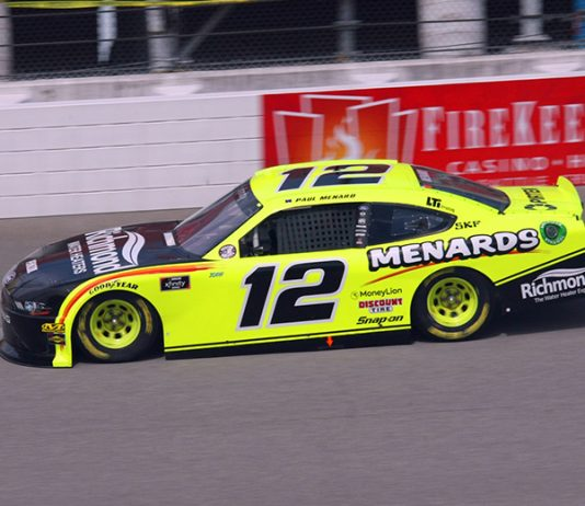 Paul Menard has earned the pole for Saturday's NASCAR Xfinity Series race at Michigan Int'l Speedway. (Todd Ridgeway Photo)