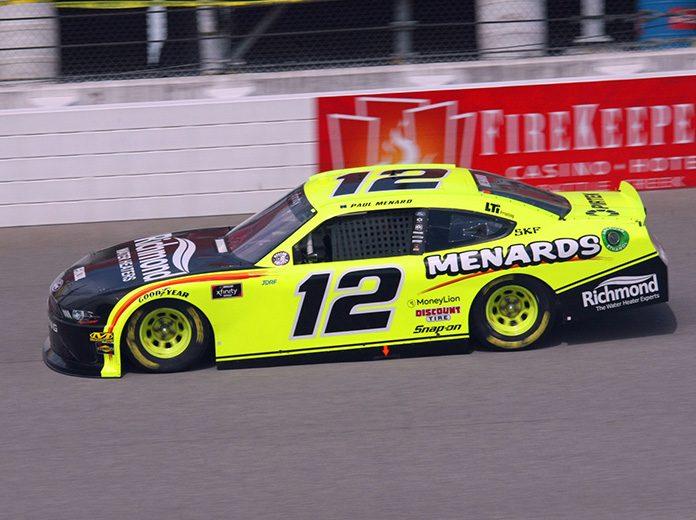 Paul Menard has earned the pole for Saturday's NASCAR Xfinity Series race at Michigan Int'l Speedway. (Todd Ridgeway Photo)