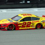 Joey Logano earned the pole for Sunday's Firekeepers Casino 400 at Michigan Int'l Speedway. (Todd Ridgeway Photo)